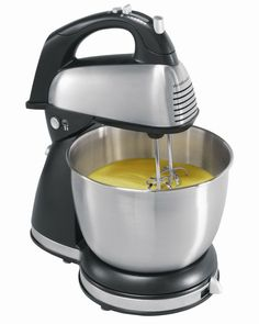 Hamilton Beach 64650 6-Speed Classic Stand Mixer, Stainless Steel 4 qt. Bowl New #HamiltonBeach