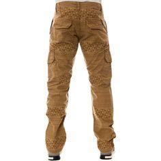 The LRG Naturalist TS Cargo Pants in Dark Khaki ($19) ❤ liked on Polyvore featuring men's fashion, men's clothing, men's pants, men's casual pants, beige, jeans // etc, men, pants, mens cotton pants and mens cargo pants