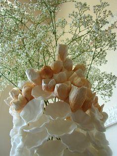 Matrimonio ecologico , Roma .  Green Wedding : Paper centerpiece www.alessandrafabre.com