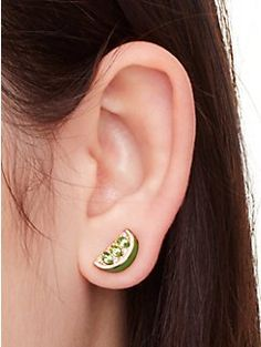 out of office lime studs by kate spade new york