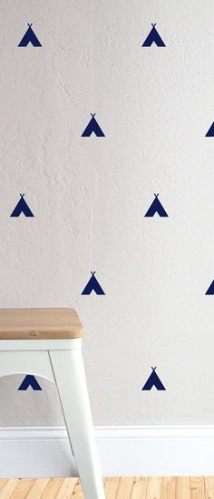 Tiny Tee Pee  WALL DECAL by TheLovelyWall on Etsy