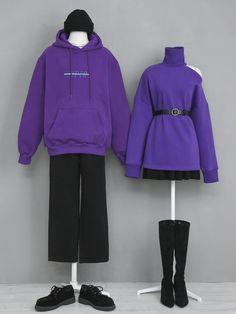 korean outfits which looks great. Fashion Couple, Cute Fashion, Fashion Outfits, Korean Fashion Trends, Korea Fashion, Mode Club, Mode Ulzzang, Matching Couple Outfits, Ulzzang Fashion