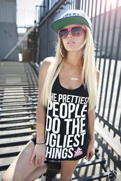 Young and Reckless. Chanel west coast ♥ want this shirtt