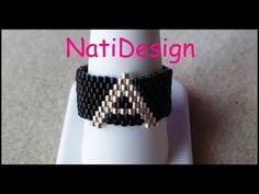 Seed Bead Bracelets, Tutorial Anillo, Ring Tutorial, Beading Tutorials, Beading Patterns, Beaded Rings, Beaded Jewelry, Beaded Bracelets, Weaving