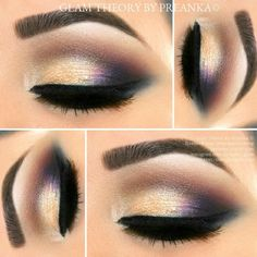 A pop of Purple with Gold,