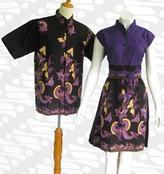 Baju batik modern dress sarimbit  Busana batik  Pinterest