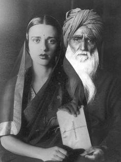 Amrita Sher-Gil & her father Umrao Sigh Sher-Gil