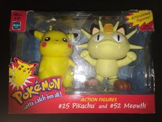 POKEMON PIKACHU AND MEOWTH ARTICULATED ACTION FIGURES  BY HASBRO (1999)  | eBay