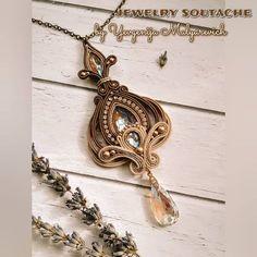 Soutache Pendant, Soutache Necklace, Bead Jewellery, Boho Jewelry, Jewelry Design, Women Accessories, Jewelry Accessories, White Necklace, Shibori