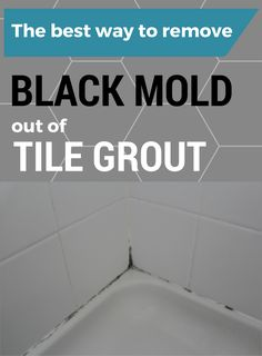 The Best Way To Remove Black Mold out of Tile Grout - Cleaning Hacks Deep Cleaning Tips, House Cleaning Tips, Diy Cleaning Products, Spring Cleaning, Cleaning Mold, Cleaning Solutions, Floor Cleaning, Cleaning Agent, Cleaning Checklist