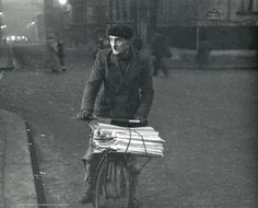 Newspaper deliverer Paris circa 1950 Robert Frank
