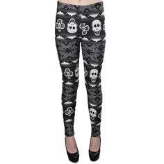 Hre some another winter leggings! These skull printed leggings are so cute!