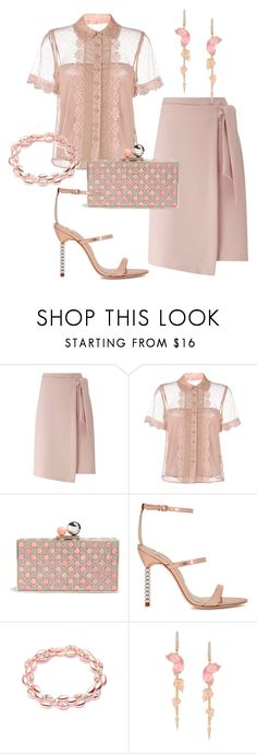 Rose by glamheartcafe on Polyvore featuring moda, RED Valentino, Miss Selfridge, Sophia Webster and Stephen Webster