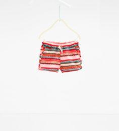 Image 1 of Printed shorts from Zara