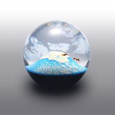 【送料無料】ガラス|お正月を演出する上質なオブジェ FUJI Japanese souvenir