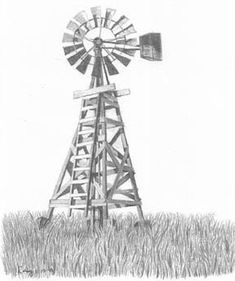 OnlineCoolGifts.com - Windmill, $9.95 (http://www.onlinecoolgifts.com/pencil-sketches/rustic-pencil-sketches/country-life-sketches/windmill/)