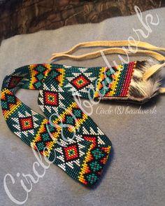 Native Beadwork, Native American Beadwork, Inkle Weaving, Bead Weaving, Beaded Hat Bands, Beaded Belts, Bead Loom Patterns, Beading Patterns, Bead Loom Bracelets