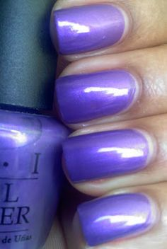 Purple With A Purpose is a very pretty color. I'm sick with a really bad sore throat and cold right now but I wanted to . Nicole By Opi, Opi Polish, I'm Sick, Sore Throat, Mani Pedi, Love Nails, Nails Inspiration, Essie, Nail Colors