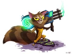 Rocket - by circuscookies Here's a little Rocket I did for Wondercon. I've been so busy that I totally forgot to post it. #RocketRaccoon