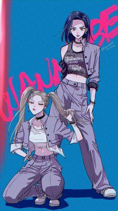@dolly874 Wannabe Itzy Fanart 💖 Kpop Anime, Kpop Posters, Kpop Drawings, Handsome Anime Guys, Cute Friends, Kpop Fanart, Anime Demon, Animes Wallpapers, Anime Art Girl