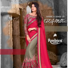 Imbibe a sense of elegance with Ambica Fab Design creations!  For more details contact us on: 99799-00476 | www.ambicasurat.in #IndianFashion #FashionWithAmbica #FashionTrendsInIndia