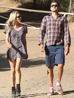 Taking a hike: Diane Kruger and fiance Joshua Jackson went for a hike on Wednesday in Los Angeles