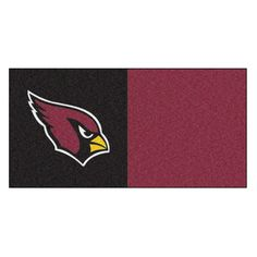 NFL - Arizona Cardinals 18 in. x 18 in. Carpet Tile (20 Tiles/Case), Maroon And Black