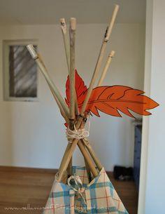 Nella mia soffitta...: Tutorial: come realizzare una tenda degli indiani per bambini