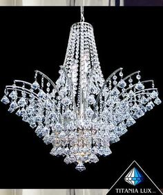 Bohemia crystal glass chandelier Made in Czech republic, for when you have more money than sense.