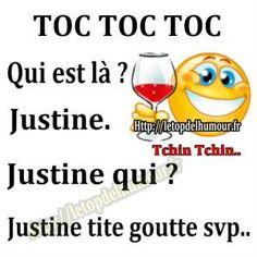toc toc toc , qui est #la ? Justine ! Justine #qui ? justine tite goutte svp !!! #blague #gag #rire #drole #drôle #marrant #blagues #rigoler