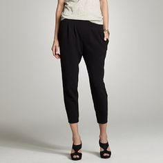 j.crew matte jersey curator pant. rather haremish, but workable.