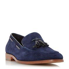 Bertie Ryon tassle suede loafers, Navy