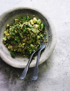 Pomegranate molasses is our secret ingredient in the dressing for this 'very green quinoa' recipe from Sainsbury's magazine.  Looks gorgeous and tastes even better!  http://www.sainsburysmagazine.co.uk/recipes/sides/rice-and-grains/item/very-green-quinoa