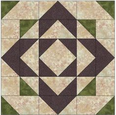 Block of the month purple, sage