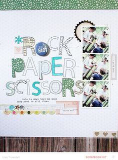 rock paper scissors by gluestickgirl at @studio_calico - stamped title - Studio Calico Kit alpha stamp set