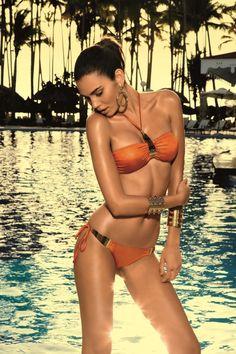 3547dc0f820a7 Vacanze Italiane Senape Bandeau Bikini Designer Swimwear