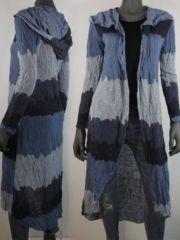 langvest#capuchon#blauw#hipkleding