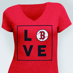 '47 Women's Boston Red Sox Club Red V-Neck T-Shirt available at DICK'S Sporting Goods.