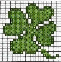 Image result for small four leaf clover cross stitch pattern free