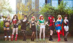 Bombshells by Lily-on-the-moon Harley by Lexi Farron Strife Cosplay Wonder Woman by LucioleS Cosplay Catwoman by Shibeez&Milou Cosplay BC by me www.facebook.com/LilyOnTheMoon… Mera by Dana...