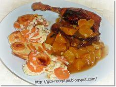 Narancsos kacsasült. Meat Recipes, Grilling, Bacon, Pork, Food And Drink, Ethnic Recipes, Beef Recipes, Pork Roulade, Steak Recipes