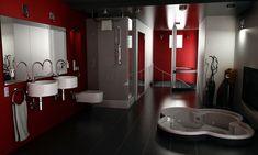 Red Bathroom idea