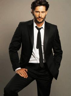 Joe Manganiello - Alcide Herveaux on True Blood...did not like Alcide in the Sookie Stackhouse books, but this guy is a tall drink of water...oh my!