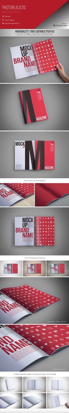 Freepik is back again to share more exclusive goodies with Access All Areas members. These photorealistic magazine mockups are the perfect resource for previewing your print designs in full photorealistic detail. Just edit the Photoshop Smart Object layer to have your art simulated as a front cover, single page, or double page spread. Freepik is …