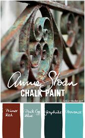 stylish patina, chalk paint, annie sloan, buy chalk paint online www. Color Palettes Recipe for the look of verdigris with Annie Sloan Chalk Paint Chalk Paint Projects, Chalk Paint Furniture, Furniture Projects, Paint Ideas, Diy Furniture, Waxing Painted Furniture, Antique Furniture, Furniture Makeover, Furniture Design