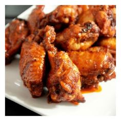 baked spicy hot wings foodgawker ❤ liked on Polyvore featuring food