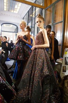 Zuhair Murad at Couture Spring 2017 - Backstage Runway Photos