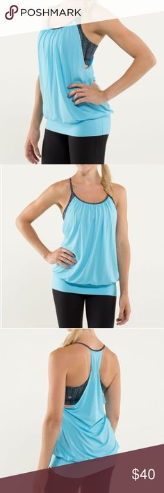 EUC Lululemon No Limits Tank size 4 (xs). excellent condition- like new no signs of wear. color is blue moon lululemon athletica Tops Tank Tops