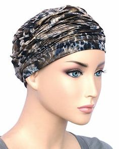 Glamour Cap Chemo Turban Marble Black with Silver Shimmer Dental Scrubs, Chemo Hair Loss, Old Hollywood Glamour, Turban, Black Silver, Classic Style, Special Occasion, Cap, Beauty