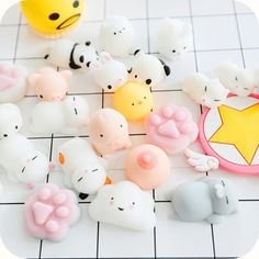 Kawaii Mini Animal Pusheen Panda Rabbit Vent Toys ●Size:Fit all. Cute Polymer Clay, Diy Clay, Clay Crafts, Squishy Packs, Pusheen, Figet Toys, Cute Squishies, Biscuit, Kawaii Plush